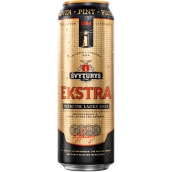 Švyturys Extra premium lager alus 5,2% 0,568L (Extra beer)