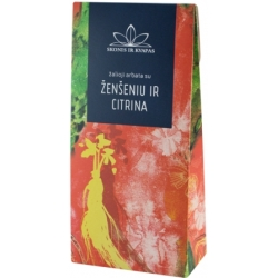 """SK""Žalioji arbata su ženšeniu ir citrina 80g (Green tea with ginseng and lemon)"