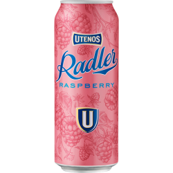 "Utenos ""Radler Raspberry Flavour"" 500ml can 2% alc."