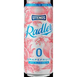 "Utenos ""Radler Grapefruit Flavour"" 500ml can 0% alc."