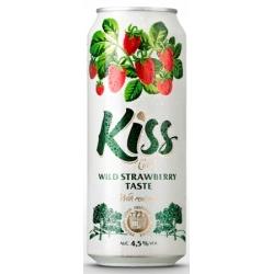 """KISS"" Žemuogiu skonio sidras 4,5% 0.5L (Wild strawberry flavour)"