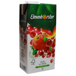 """""""Elmenhorster"""" Vyšnių ir obuolių sultys 2L (Cherry and apple juice drink)"""
