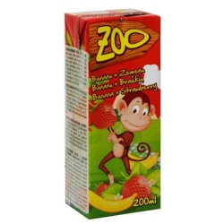 """Zoo"" Bananų ir braškių sultys 200ml (Banana and strawberry juice drink)"