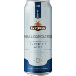 Švyturys nealkoholinis alus 0.5L (Non-alcoholic beer)