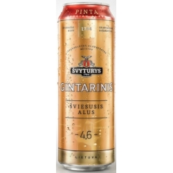 Švyturys Gintarinis Šviesusis alus 4,6% 0.568L (Gintarinis light beer)