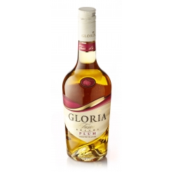"""Brandy """"Gloria Fusion"""" with plums. 36% alc. 0.5l."""