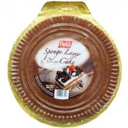 """""""Dahli"""" Kempinė sluoksniu kakavos pyragas 400g (Sponge layer cocoa cake)"""