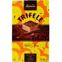 """""""Laima"""" Šokoladinis vaflinis tortas su šokolado gabaliukais trifele 350g (Chocolate wafer cake with chocolate flakes)"""