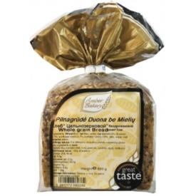 """AB""Pilnagrūdė Duona be mielių 600g (Whole grain Bread yeast free)"