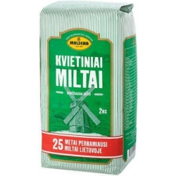 """""""Malsena"""" Kvietiniai miltai 2kg (Wheat flour)"""