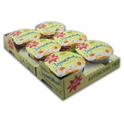 Abrikosų skonio grudėta varškė150g x 6vnt (Cottage cheese with fruit filling)
