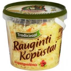 """""""Kvėdarų ūkis""""Tradiciniai rauginti kapūstai su spanguolėmis 800g (Pickled cabbage with cranberries)"""