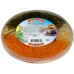 """""""Avis-D"""" Silkių salotos su morkomis ir jūros kopūstais 300g (herring fillet salad)"""