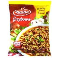 """""""Amino"""" Grybų sriuba su makaronais 70g (Mushroom soup with noodles)"""