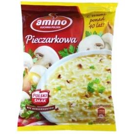 """Amino"" Pievagrybių sriuba su makaronais 64g (Champignon instant soup with noodles)"