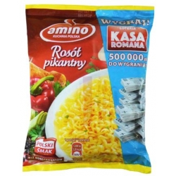 """Amino"" Aštrios vištienos sriuba su makaronais 57g (Hot chicken soup with noodles)"