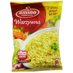 """""""Amino"""" Daržovių sriuba su makaronais 58g (Vegetable soup with noodles)"""