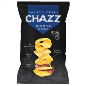 """CHAZZ"" Potato Crisps with Sour Cream & Onions 90g"