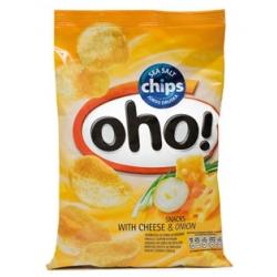 """Bulvių traškučiai su sūriu ir svogūnais 55g """"Oho"""" (Snacks with cheese and onion)"""