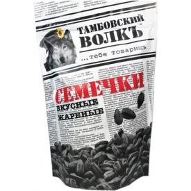 """Saulėgrąžos pakepintos juodos""""Tambovsky volk"""" 230g (Roasted black sunflower seeds)"""