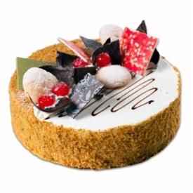 """Apvalus tortas """"Medutis"""" (Honey cake)"""