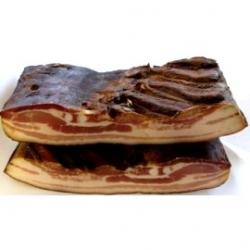 """Kiaulienos šoninė šalto rūkymo """"Petro mėsinė"""" (Cold smoked Bacon) £1,39 per 100g"""