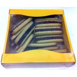 Namų darbo sausainiai su džemu 450g (Home made biscuits with fruits filling)