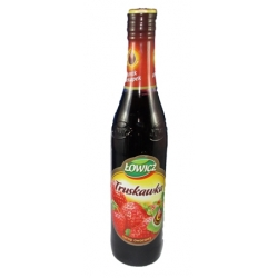 "Sirupas žemuogių skonio 440ml ""Lowicz""(Strawberry flavour)"