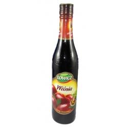 """Sirupas Vyšnių skonio 440ml """"Lowicz""""(Cherry flavour)"""