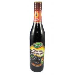 """Sirupas juodų serbentų skonio 440ml """"Lowicz""""(Blackcurrant flavour)"""
