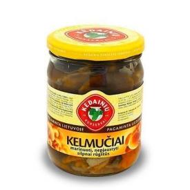"""""""KKF"""" Kelmučiai marinuoti, nepjaustyti 480g (Marinated button mushrooms)"""