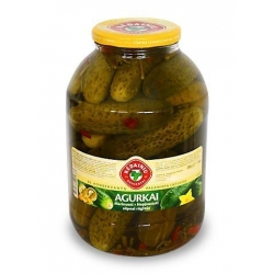"""KKF"" Agurkai marinuoti silpnai rūgštūs 3000g (pickled cucumbers)"