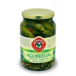 """""""KKF"""" Marinuoti agurkeliai, nepjaustyti 480g (Pickled gherkins)"""