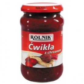 "Krienai su burokėliais ""Cwikla"" 370ml (Horseradish beetroots)"