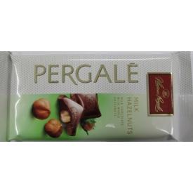 """Pieninis šokoladas su riešutais""""Pergalė""""(Milk chocolate with nuts)100g"""