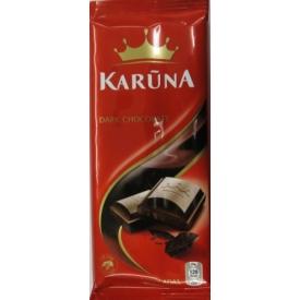 """Juodasis šokoladas """"Karūna""""(Dark chocolate) 90g"""