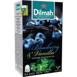 """""""Dilmah"""" Mėlynių ir vanilės arbata pakeliais 20pk 30g (Blueberry and vanilla tea)"""