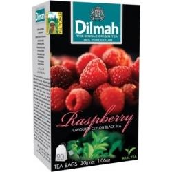 """""""Dilmah"""" Aviečių skonio  juodoji Ceilono arbata pakeliais 20pk 30g (Raspberry tea)"""