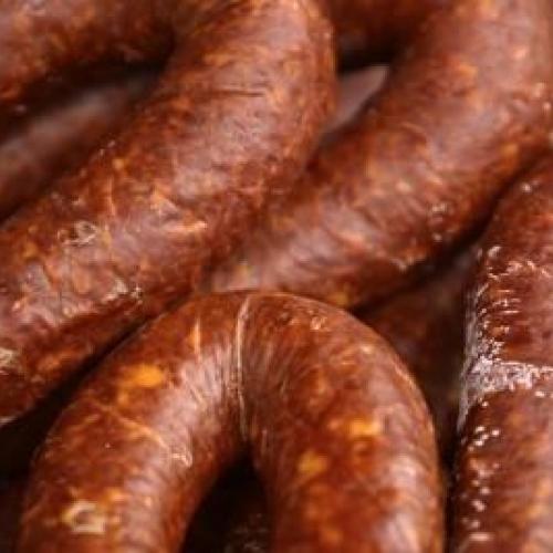 Vytintos,rūkytos dešros (Driead,smoked sausages)