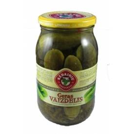 """KKF"" Geras vaizdelis marinuoti agurkai 880g (Pickled cucumbers)"